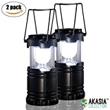 LED Camping Lantern - Collapsible LED Camping and Outdoor Lantern with Built-in Magnetic Compass [2 Pack]