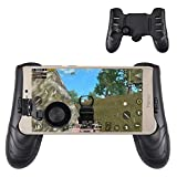 OMUKY Mobile Game Controller Mobile Game Joystick with Adjustable Flexible Walking and Shooting Tool For IPhone and Android To Play PUBG,Fortnite,Knives Out,Rules of Survival (Black)