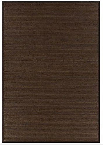 8' x 10' Large Brown Hand-Woven Bamboo Area (Large Woven Bamboo)