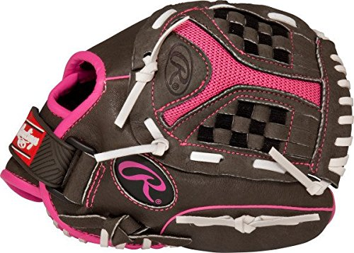 Rawlings 社製 ソフトボール用グローブ Storm Youth シリーズ B01GU9N2KY Grey Pink 10.5|Worn on Left Hand Grey Pink 10.5