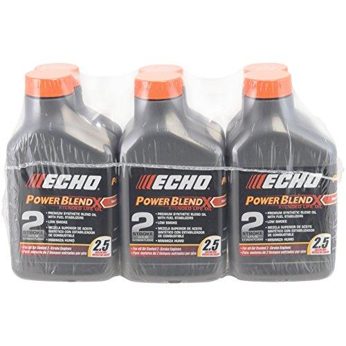 (Echo 6450025 Power Blend Xtended 2-stroke Oil Mix for 2.5 Gallon (50:1) 6 Pack)
