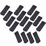 Allure Maek 32pcs Knitting Wool Furniture Socks/ Chair Leg Floor Protector (Black))