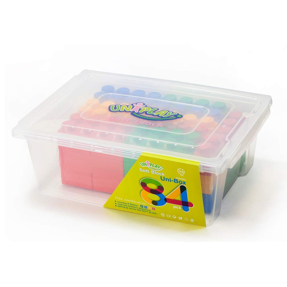 UNiPLAY Antibacterial Soft Building Blocks UNiBOX 84PCS DELSUN CO.