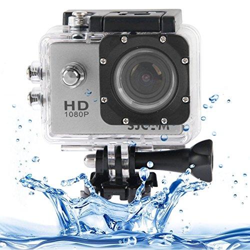 SUNSKY 防水ケースとSJCAM SJ4000フルHD 1080P 1.5インチLCDスポーツビデオカメラ、12.0メガCMOSセンサー、30メートル防水 ( Color : Silver )  Silver B01M7OUTZF