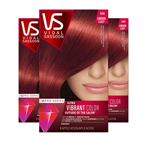 Vidal Sassoon Pro Series Hair Color, Shade 5rr Medium Vibrant Red, 3 Count