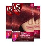 Vidal Sassoon Pro Series, 5RR Medium Vibrant Red, 3 Count