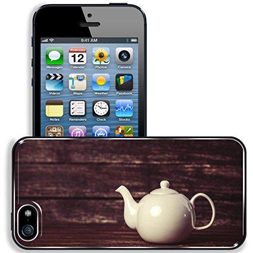Liili Apple iPhone 5 iPhone 5S Aluminum Backplate Bumper Snap iphone5/5s Case Vintage teapot on wooden table (Best Liili Teapots)