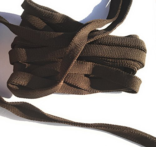 Dark Brown FOLD Over -Knit- Braid Polyester Ribbon Trim 5 Yds Foldover