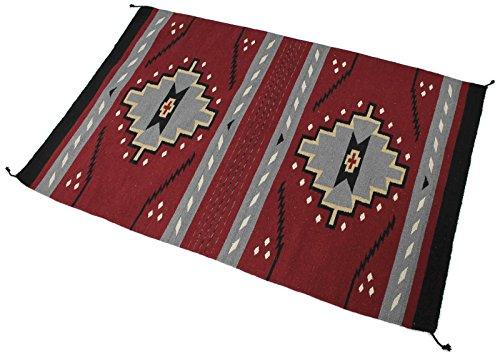 Splendid Exchange Hand Woven Acrylic Southwest Area Rug, 4 Feet by 6 Feet, Geometric Red and Black
