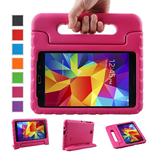 NEWSTYLE Samsung Galaxy Tab 4 8.0 Shockproof Case Light Weight Kids Case Super Protection Cover Handle Stand Case for Kids Children For Samsung Galaxy Tab 4 8-inch SM-T330 SM-T331 SM-T335 - Rose Color