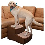Pet Gear Easy Step II Pet Stairs, Extra Wide, Chocolate