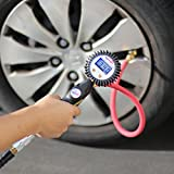 EPAuto 255 PSI Digital Tire Inflator Gauge with Hose and Quick Connect Plug