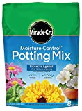 Miracle-Gro Moisture Control Potting Mix, 0.26-Cubic Feet (8qt.), 4 Units