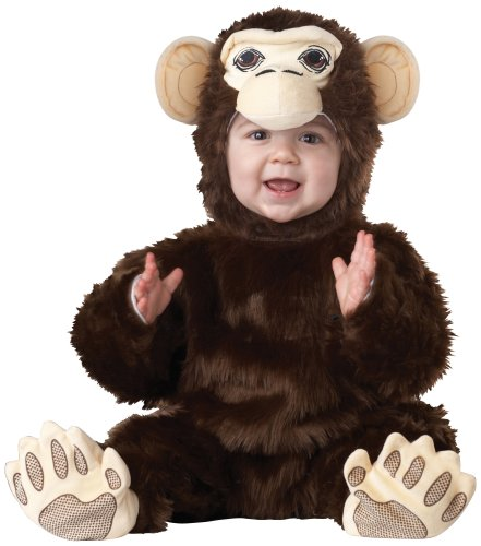 California Costumes Chimpanzee Infant Jumpsuit, Brown, 12-18 Costume -
