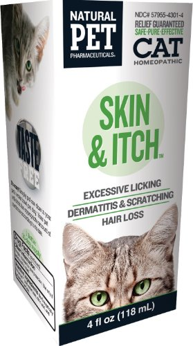 Natural Pet Pharmaceuticals by King Bio, Skin and Itch Control for Cat, 4-Ounce, Pack of 2