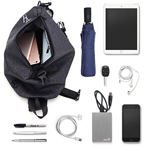 Port Backpack Charging Bag Men Sling Chest Usb body For Cross With Fashion Blue Waterproof Shoulder Ogxw1Upwn5