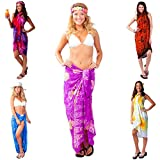 1 World Sarongs Womens Party Package Grab Bag Of Swimsuit Cover-Up Sarong and Shell Bracelet - 20 Sarongs