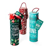 Set of 3 Holiday Wine Tubes - Great Gift Under $20