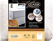 Protetor de colchão Classic Impermeável Solteiro 200x110 cm - Fibrasca, Branco