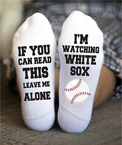 - White Sox Socks Funny Birthday Gift Baseball Game Day Chicago