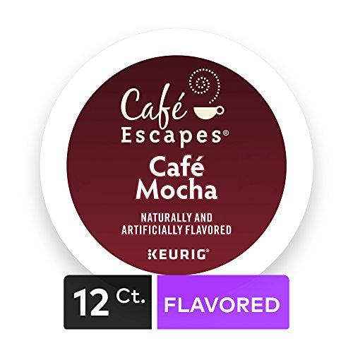 Cafe Escapes Cafe Mocha, Keurig K-Cups, 12 Count (Pack of 6)