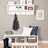 Prepac Floating Entryway Shelf with Bench in White