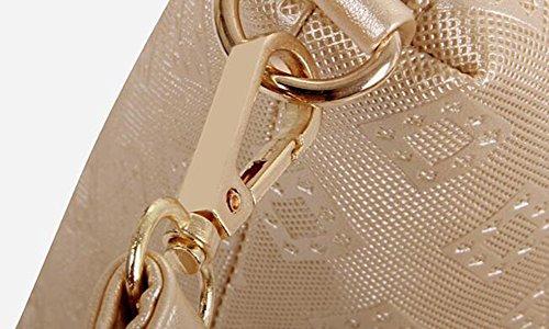 LXYIUN Cuir Bandoulière Pièces À Black Carte Paquet Portefeuille Sacs Sac Diagonale Main Six Gold Portable Crossbody De PU Costume À n1Rnr