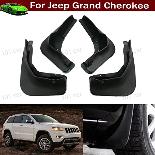 (4X Car Mud Flaps Mudflaps Mud Guards Mudguard Splash Guard Fender Pretector Custom Fit for Jeep Grand Cherokee 2011 2012 2013 2014 2015 2016 2017 2018 2019 2020 (not fit for Altitude/Summit Model))