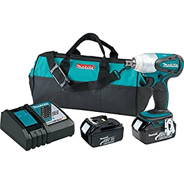 Makita XWT05 18V LXT Lithium-Ion Cordless 1/2 Sq. Drive Impact Wrench Kit (3.0Ah)
