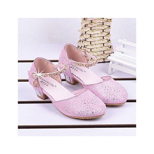 Wuyulunbi@ Zapatillas De Cristal Princesa Princesa Crystal Zapatos Zapatos Zapatos De Rendimiento Suave Princesa Zapatos Sandalias Zapatos De