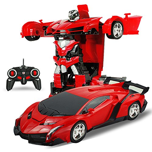 Fashionwu 変形玩具車 ロボット 車のおもちゃ RCおもちゃ リモコン ロボット 遠隔操作 子供ギフト