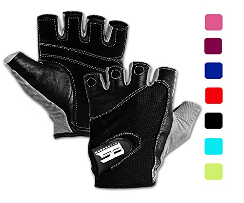 Weightlifting Gloves w/Washable - Premium Gym Gloves For Powerlifting Weight Training Gym Weights Biking Cycling Equipment - Best Training Gloves To Workout With Weights (Gray S)