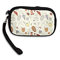 Autumn Rain Boots Umbrella Seamless Comfortable Coin Purse Storage Package Wallet Zipper Mini Wallet For Men & Women