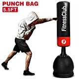 Fitnessclub 5.5Ft Heavy Duty Free Standing Boxing Punch Bag Kick MMA UFC Martial Art Training
