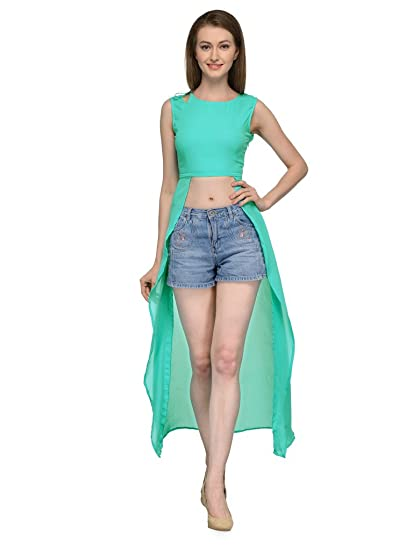 76bf58bdc97799 Express 2 Impress Women s firozi crop top cape jacket(ABC-05-XL green XL)