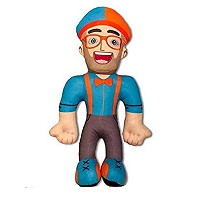 LuLezon Blippi Plush Figure Toy Soft Stuffed Doll for Kids Gift 13 Inch: Juguetes y juegos