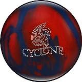 Ebonite Cyclone Bowling Ball, Red/Blue Sparkle, 11 lb