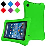 TIRIN Fire HD 8 Tablet Case - Light Weight Shock Proof Kid Friendly Case for All-New Amazon Fire HD 8 Tablet (Compatible with 7th and 8th Generation Tablets, 2017-2018 Releases), Green
