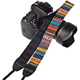 Kameragurt, Kamera-Tragegurt im schönen Bohemian Style von zamia-foto, Schulter-Strap Kameraschultergurt, Trageriemen für Digital Camera DSLR SLR wie Nikon, Sony, Canon, Pentax, Olympus, etc.