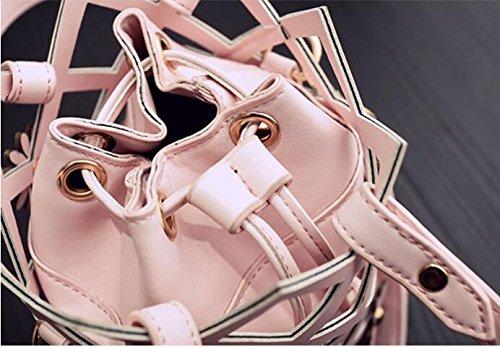 Secchiello Nuova Meaeo Cava argento Rosa Tracolla Borsa A Crossbody FIf4z
