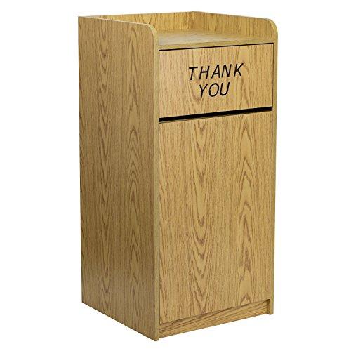 - Flash Furniture Wood Tray Top Receptacle in Oak Finish [MT-M8520-TRA-OAK-GG]