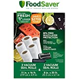 "FoodSaver 8"" and 11"" Vacuum Seal Rolls with BPA-Free Multi-Layer Construction for Food Preservation & Sous Vide Cooking, Multi-Pack"