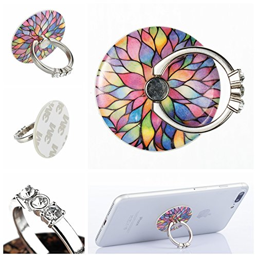Binguowang 4351500438 Phone Ring holder 2 Pack Finger Ring Stand 360/° Rotation Phone Grip Kickstand Universal Smartphone Ring for iPhone X 8 8 Plus,7 6S 6,Samsung Galaxy,Tablets and iPads. Rain Flower+Butterfly