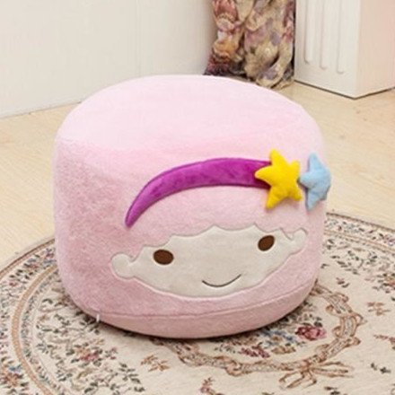 MeMoreCool Cute Double Stars Plush Children Step Stool Toddler Soft Small Chair Creative Plush Toy Boys and Girls Birthday Gift in Pink