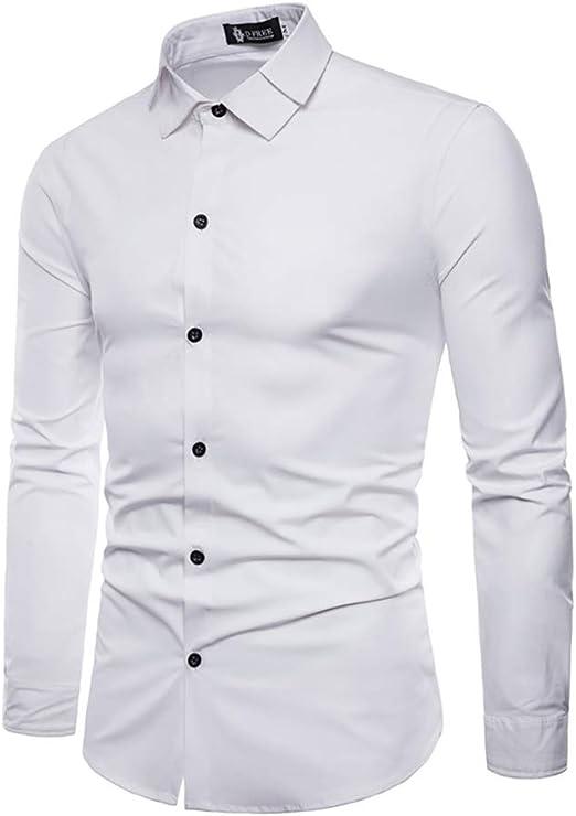 Camisa de Hombre, Manga Larga Casual Ropa Formal Camisas de ...