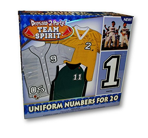 (Team Spirit Unifrom Numbers for 20 Uniforms Iron-on Transfer Numbers)