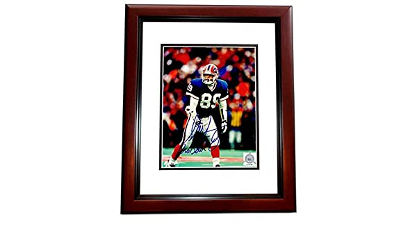 Steve Tasker Signed - Autographed Buffalo Bills 8x10 inch Photo MAHOGANY  CUSTOM FRAME - Guaranteed to pass PSA or JSA at Amazon s Sports  Collectibles Store 8bb0e9755