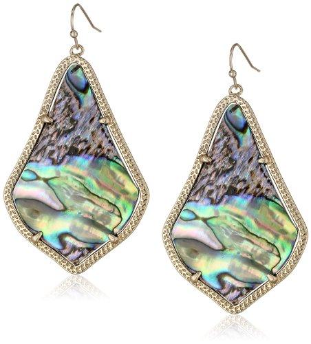 "Kendra Scott ""Signature"" Alexandra Gold Abalone Shell Drop Earrings"