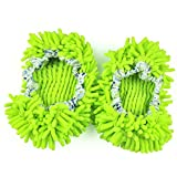 TheWin Dust Mop Slippers Comforable Shoes Floor Cleaner, Green