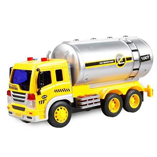 E-SCENERY Recycle Trash Garbage Construction Truck Toy Car Vehicle for Kids Friction Powered for Boys Purifier with Light and Sound 1:16 Advanced Simulation Model Sanitation (Truck 3#)